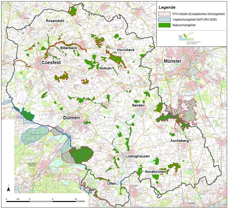 Schutzgebiete Im Kreis Coesfeld